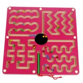 Pink Curving Rail Magnetic Labyrinth