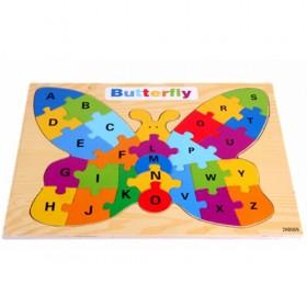 Colorful Butterfly Design Letters Puzzle