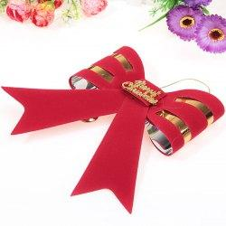 Beautiful 15 PVL Big Bowknot Hanged Adorn Decorations for Christmas Tree/Door/Window - Red