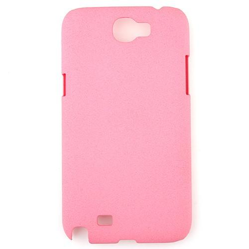 Frosted Plastic Protective Case for Samsung Galaxy Note 2 N7100 Pink