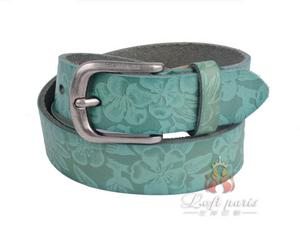 Ladies Casual Genuine Leather Belt with Pin Buckle