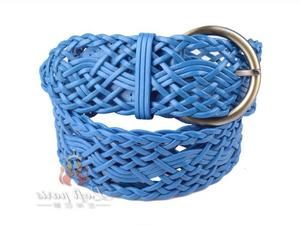 Blue Basketweave belt