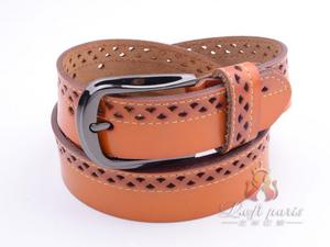 Men All-Match Genuine Leather pin buckle belt