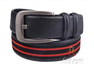 Men fashionable Woven Leather Belt