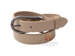 Women genuine leather belt with alloy buckle