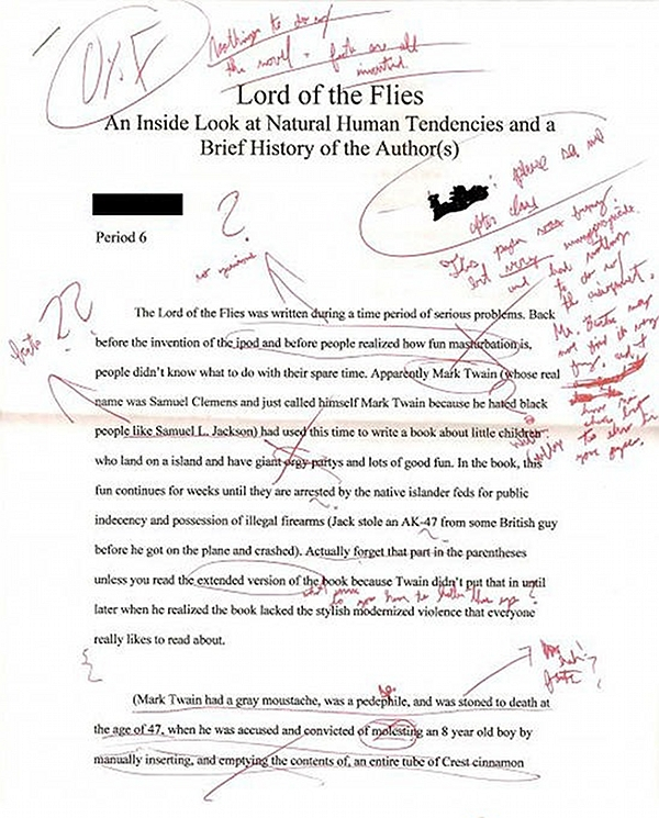 essays power lord flies