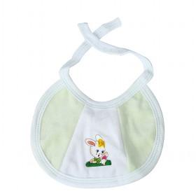 Hot Sale White And Light Green Cute Rabbit Decorative Baby Bibs
