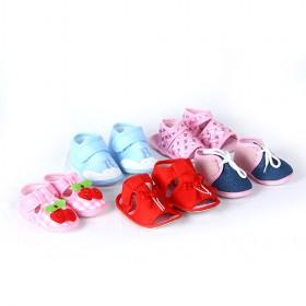 Cute And Sweet Mix Color Infant Baby Cloth Shoes
