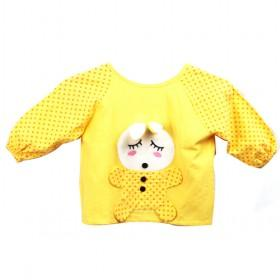 Cute Light Yellow With Cartoon Baby Prints Cotton Baby Clothes