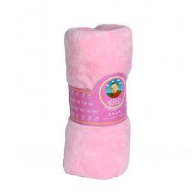High Quality Plain Pink 100% Cotton Baby Blankets