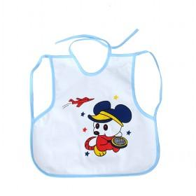 Good Quality Cute White With Cartoon Mouse Prints Baby Bibs