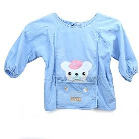 Cute Light Blue With White Bear Prints Baby Clothes