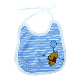 Hot Sale Blue Stripes With Cartoon Bear Prints Baby Bibs