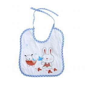 Cute White With Bunny Prints Baby Bibs