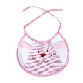 Hot Sale White And Light Pink Cute Rabbit Decorative Baby Bibs