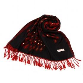Red And Black Cotton Scarf,womens Scarf,wholesale Scarf