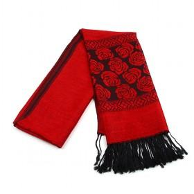 Knitting Scarf,red Floral Scarf,womens Scarf,wholesale Scarf
