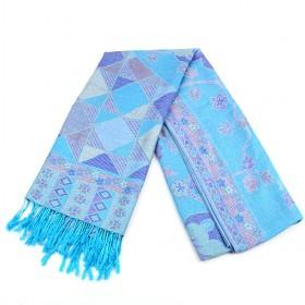 Fashion Sky Blue Floral Cotton Scarf, Womens Scarf, Scarf ,wholesale Scarf