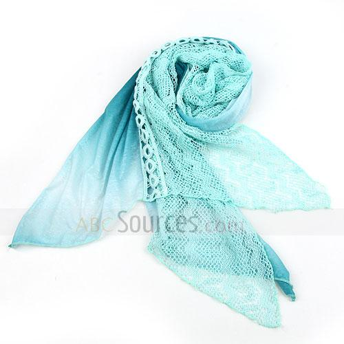 light green floral scarf