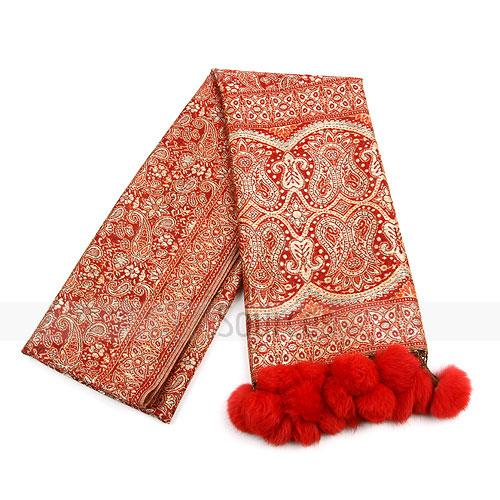 fashion red exotic scarf