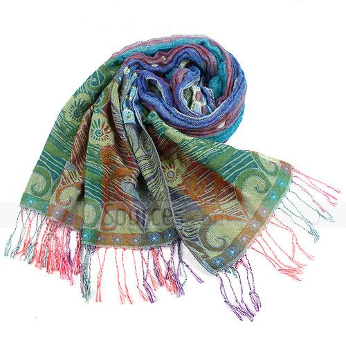 Fashion colorful floral scarf