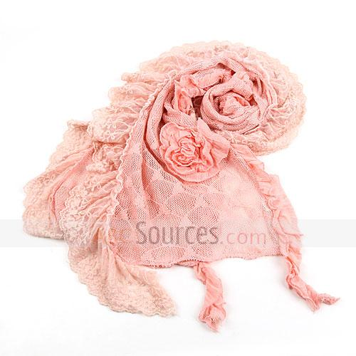 pink floral scarf