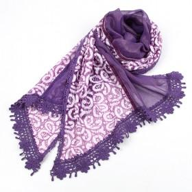 Purple Floral Silk Scarf,fashion Scarf,womens Scarf