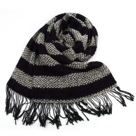 Fashion Black And Grey Stripes Scarf,womens Scarf,wholesale Scarf,hot Sale