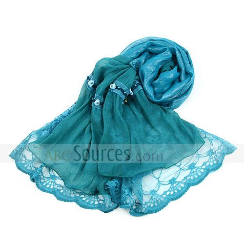 fashion blue womans shawl