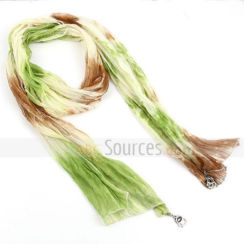 light green<br />\r\nsilk scarf