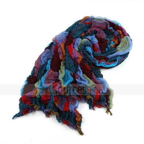 fashion colorful wrinkle scarf