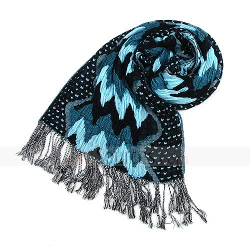 Fashion blue cotton scarf