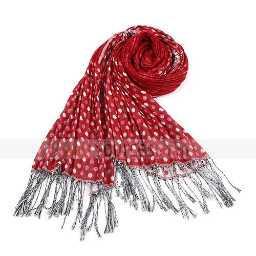 red little spot scarf