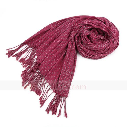 Fashion cotton rose red scarf