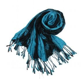 Black And Blue Scarf,floral Scarf, New Design,fashion Scarf,womens Scarf,wholesale Scarf