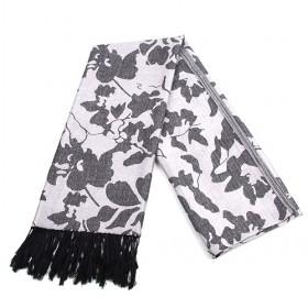 Fashion Grey Violet Floral Scarf,womens Scarf,scarf ,wholesale Scarf