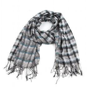 Fashion Grey Cotton Plaid Scarf,womens Scarf,wholesale Scarf