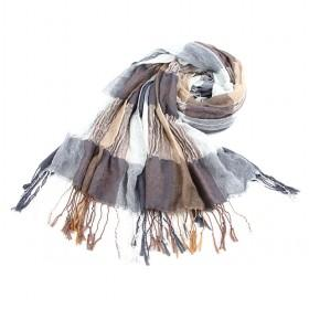 Fashion Grey And Earth Yellow Plaid Scarf, Womens Scarf,wholesale Scarf