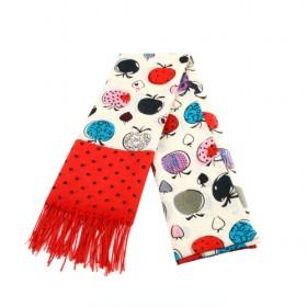 Fruit Figures Wool Scarf