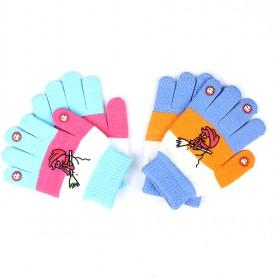 Cute Acrylic Gloves For Kids, Multi-color, Best-selling