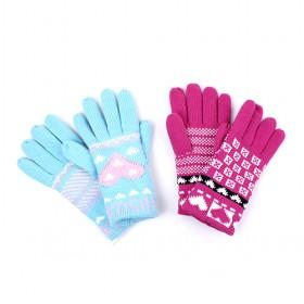Fashion Knitted Gloves, Add Thick Wool Cloth With Soft Nap Of Gloves