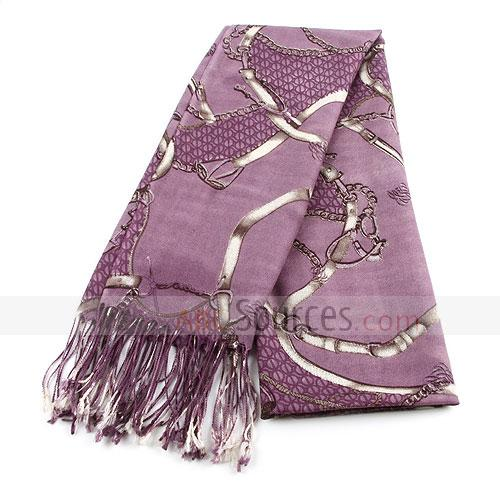 purple wool scarf,leather beit figure