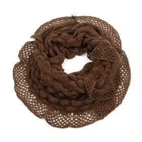 Dark Coffee Mesh Scarf