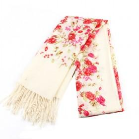 Rose Red Floral Scarf