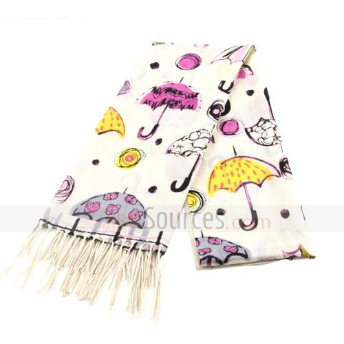 umbrella figure wool scarf