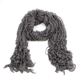 Grey Acrylic Wool Scarf