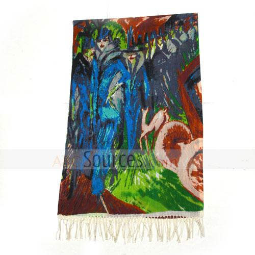 man and deer wool scarf