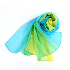 3 Colors Yarn Scarf Blue