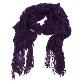 Purple Fold Bubble Scarf