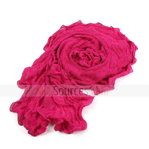rose red fold lace scarf